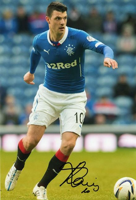 Haris Vuckic, Rangers, signed 12x8 inch photo. (3)
